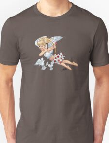 Cute Blond Cupid Angel with Birds by Al Rio T-Shirt