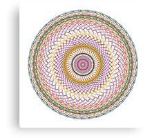 Multi Colored Swirl 4 Canvas Print