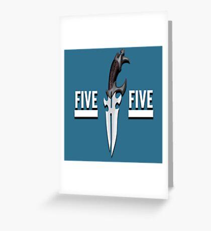 Buffy - Faith 5 by 5 minimalist poster Greeting Card