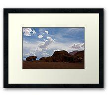 Navajo Rock House Framed Print
