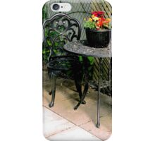 pretty, vintage, table and chairs iPhone Case/Skin