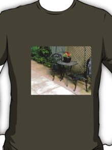 pretty, vintage, table and chairs T-Shirt
