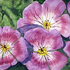 Purple Geraniums by Tina Messec by CoastalCarolina
