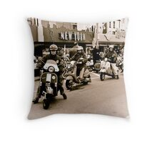 Old Mods day out Throw Pillow