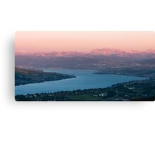 sunset scenery at lake zuerich Canvas Print