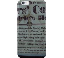 The Potter's Cottage sign iPhone Case/Skin