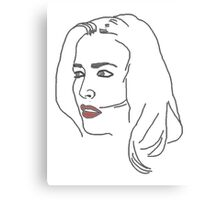 Gillian Anderson Sketch Canvas Print