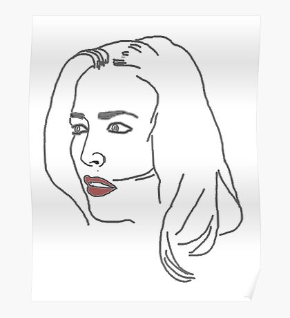 Gillian Anderson Sketch Poster
