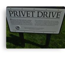 The Privet Drive sign.  Canvas Print