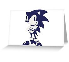 Minimalist Sonic 6 Greeting Card