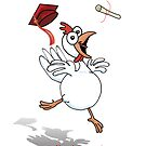 A chicken's graduation! by graphicdoodles