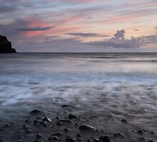 Talisker Bay at Sunset by Maria Gaellman