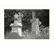 B&W Graves Art Print