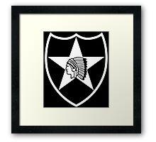 2nd Infantry stencil Framed Print