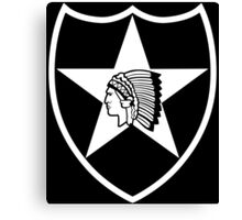 2nd Infantry stencil Canvas Print