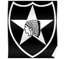 2nd Infantry stencil Poster