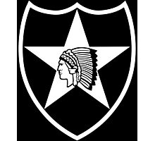 2nd Infantry stencil Photographic Print
