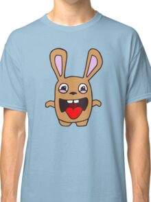 rabbit lapin funny cartoon Classic T-Shirt