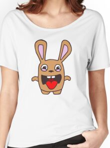 rabbit lapin funny cartoon Women's Relaxed Fit T-Shirt