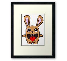 rabbit lapin funny cartoon Framed Print