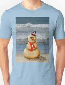Sand Snowman at the beach! T-Shirt