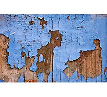 Psychedelic blue map world Photographic Print