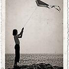 """The little girl with the kite""  by Barbara  Corvino"