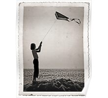 """The little girl with the kite""  Poster"