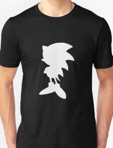 Classic Sonic Silhouette 2 - White T-Shirt