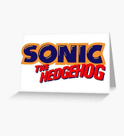 Sonic the Hedgehog Logo Greeting Card