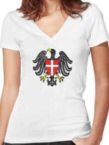austria   vienna  wien Women's Fitted V-Neck T-Shirt