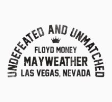 Floyd Mayweather - Letterpress Kids Clothes