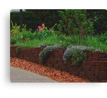 Visual Texture Garden Canvas Print