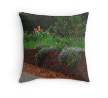 Visual Texture Garden Throw Pillow