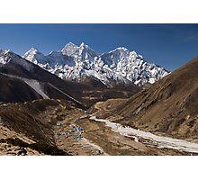 Pheriche and Ama Dablam, Himalaya, Nepal. Photographic Print