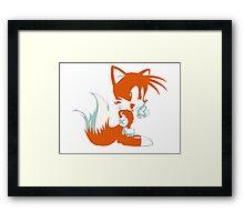 Minimalist Tails 2 Framed Print
