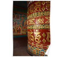 Prayer wheel, Nepal. Poster