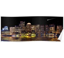 Boston City Scape Poster