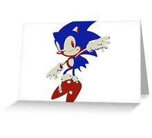 Minimalist Sonic 8 Greeting Card