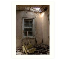 Abandoned school for the feeble minded Art Print