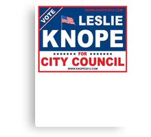 Vote Leslie Knope 2012 Canvas Print