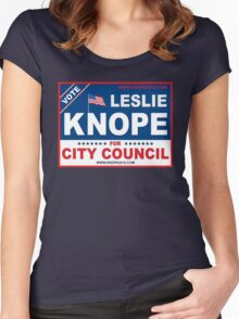 Vote Leslie Knope 2012 Women's Fitted Scoop T-Shirt