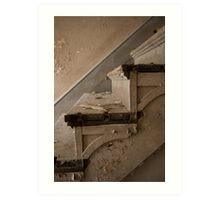 Rotting stairs at the NJ school for the feeble minded Art Print