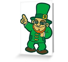 irish leprechaun st patrick beer  faery Greeting Card