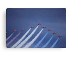 Red Arrows Canvas Print
