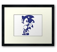Minimalist Sonic 9 Framed Print