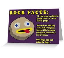 Fact Rock, WITH FACTS! Greeting Card