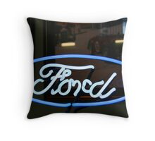 Ford Sign Throw Pillow