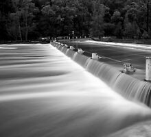 Audley Weir in flood by David Haworth