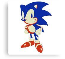 Minimalist Sonic 10 Canvas Print